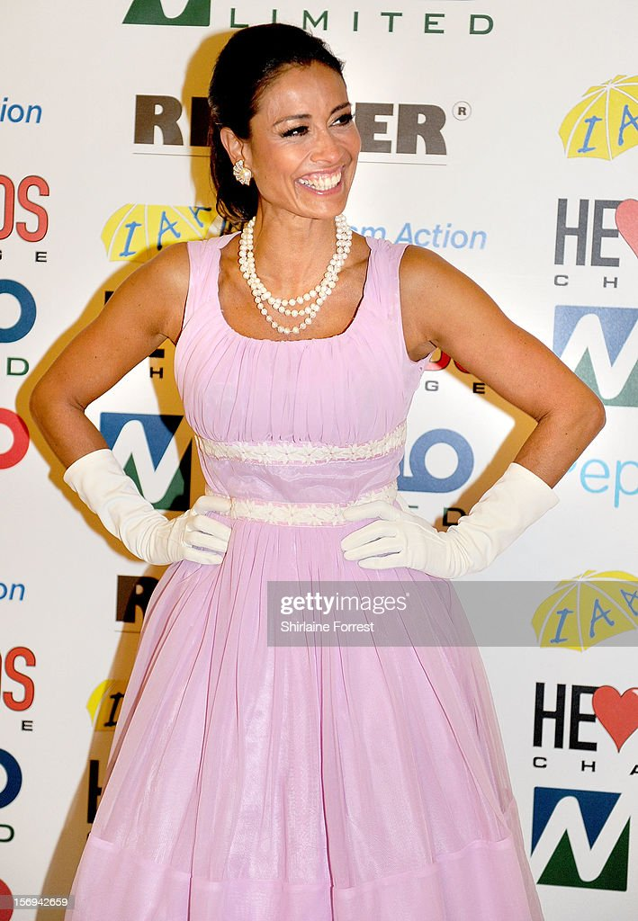 Melanie Sykes attends the Hearts and Minds charity ball at Hilton Hotel on November 25, 2012 in Manchester, England.
