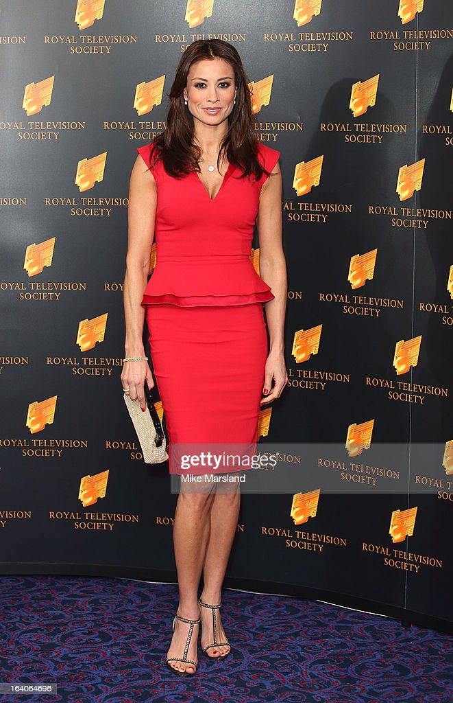 Melanie Sykes attends the RTS Programme Awards at Grosvenor House, on March 19, 2013 in London, England.