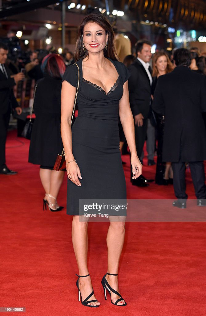 Melanie Sykes attends the World Premiere of 'Ronaldo' at Vue West End on November 9, 2015 in London, England.