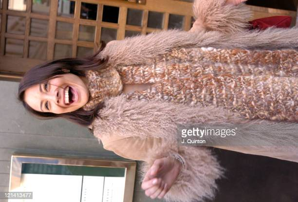 Melanie Sykes pregnant during Celebrity Sightings at The Ivy in London at The Ivy in London Great Britain