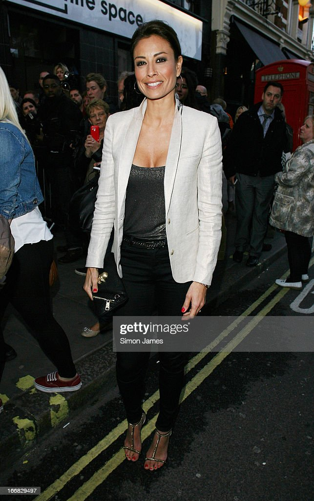 Melanie Sykes sighting on April 17, 2013 in London, England.
