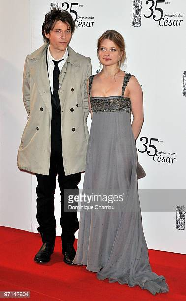 Melanie Thierry and Raphael attend the 35th Cesar Film Awards at Theatre du Chatelet on February 27 2010 in Paris France