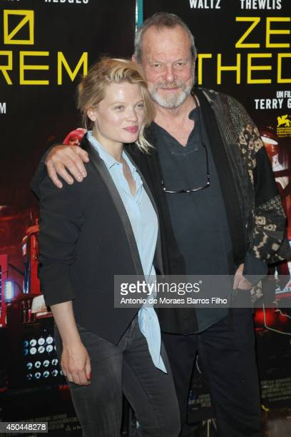 Melanie Thierry and Terry Gilliam attend the Zero Theorem' Paris Premiere at UGC Cine Cite des Halles on June 11 2014 in Paris France