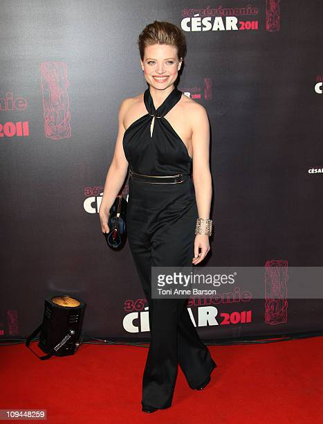 Melanie Thierry arrives at the 36th Cesar Awards at Theatre du Chatelet on February 25 2011 in Paris France