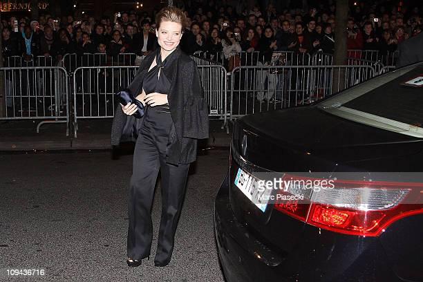 Melanie Thierry attends the 36th Cesar Film Awards at Theatre du Chatelet on February 25 2011 in Paris France