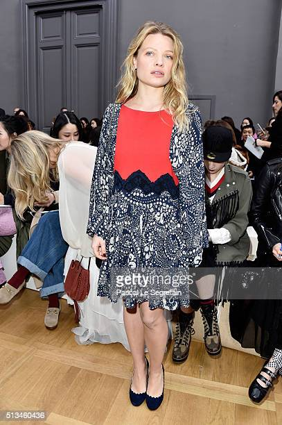 Melanie Thierry attends the Chloe show as part of the Paris Fashion Week Womenswear Fall/Winter 2016/2017 on March 3 2016 in Paris France