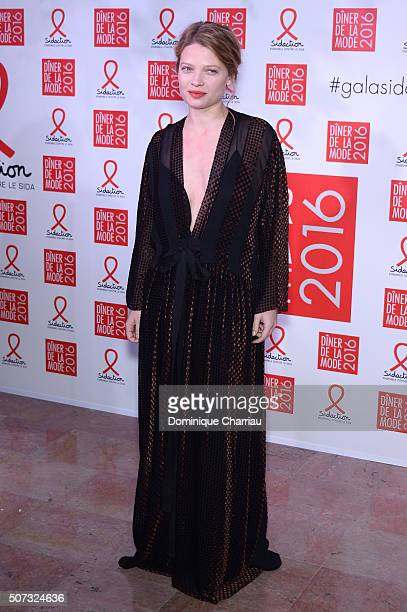 Melanie Thierry attends the Sidaction Gala Dinner 2016 as part of Paris Fashion Week on January 28 2016 in Paris France