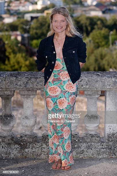 Melanie Thierry poses at a photocall for the movie 'Je Ne Suis Pas Un Salaud' during the 8th Angouleme FrenchSpeaking Film Festival on August 26 2015...
