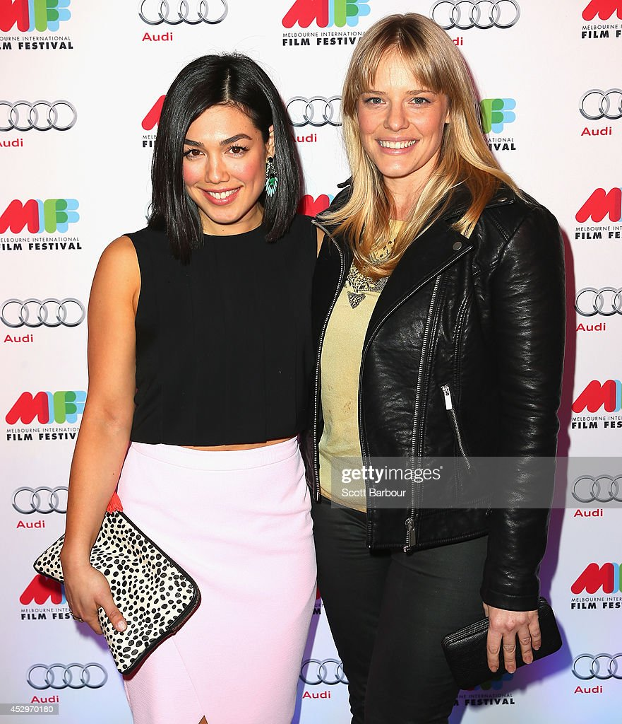 Melanie Vallejo and Katherine Hicks attend the opening night of the 63rd Melbourne International Film Festival at Hamer Hall on July 31, 2014 in Melbourne, Australia.