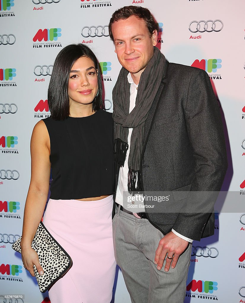 Melanie Vallejo and Tom Wren attend the opening night of the 63rd Melbourne International Film Festival at Hamer Hall on July 31, 2014 in Melbourne, Australia.