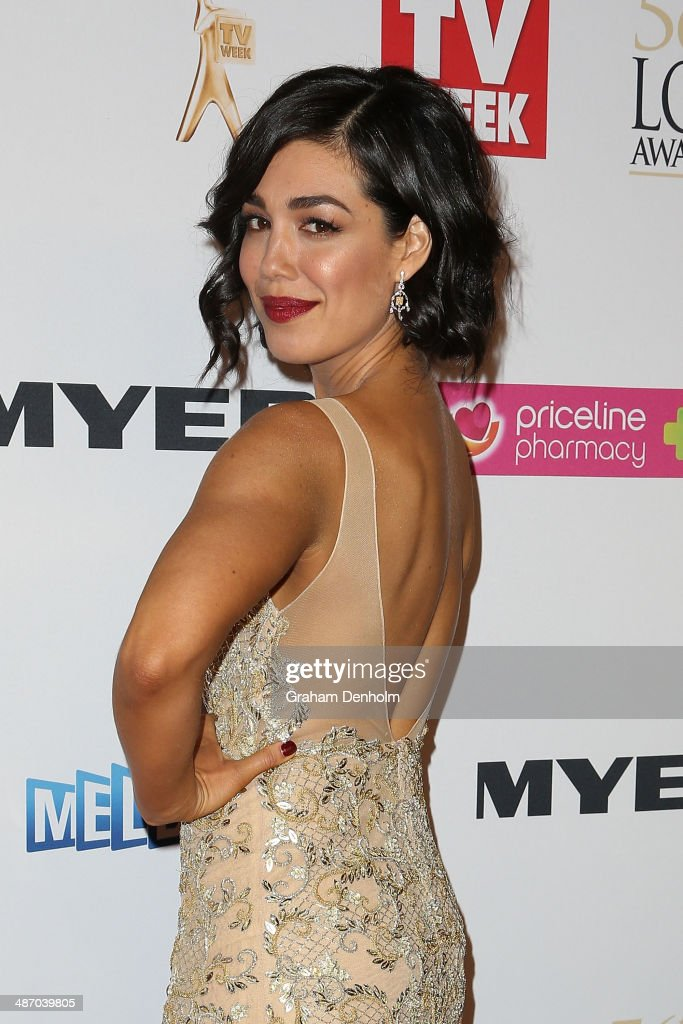 Melanie Vallejo arrives at the 2014 Logie Awards at Crown Palladium on April 27, 2014 in Melbourne, Australia.