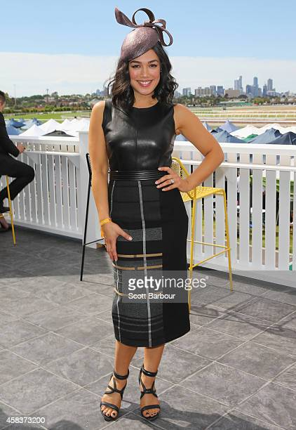Melanie Vallejo attends the Emirates Marquee on Melbourne Cup Day at Flemington Racecourse on November 4 2014 in Melbourne Australia