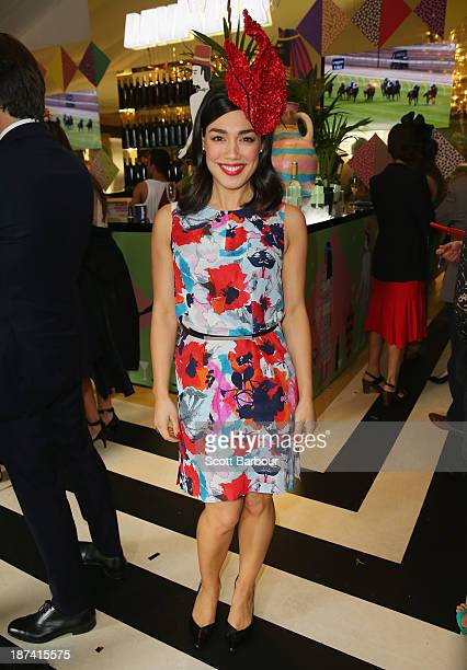 Melanie Vallejo attends the Lavazza marquee during Stakes Day at Flemington Racecourse on November 9 2013 in Melbourne Australia