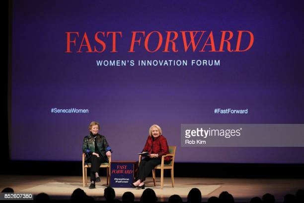 Melanne Verveer Seneca Women and Mary Robinson former President of Ireland and President The Mary Robinson Foundation Climate Justice attend Fast...