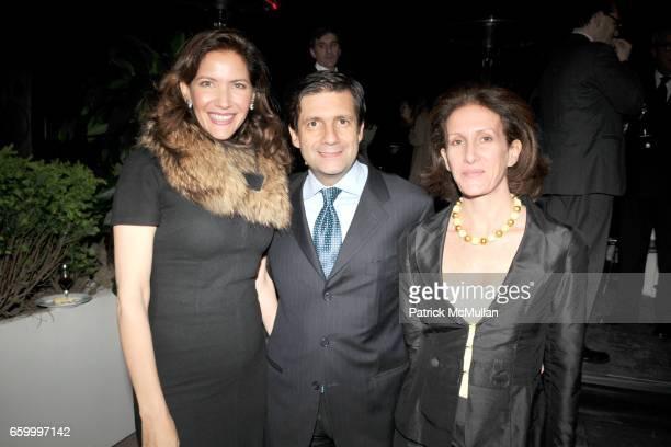Melba Ruffo di Calabria Consul General of Italy Francesco M Talo and Ornella Talo attend Cocktail Event following BRIONI ANGELS and DEMONS Screening...