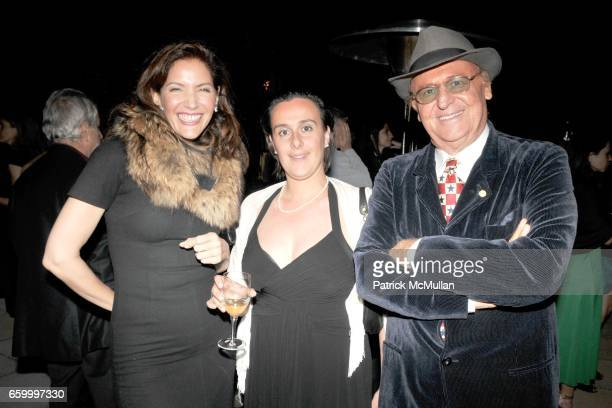 Melba Ruffo di Calabria Federica Torello Viera and Renzo Arbore attend Cocktail Event following BRIONI ANGELS and DEMONS Screening at Rai Corporation...