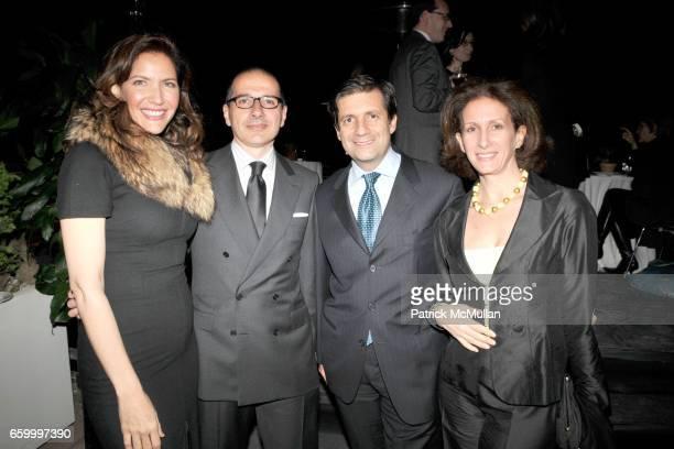 Melba Ruffo di Calabria Paolo Torello Viera Consul General of Italy Francesco Talo and Ornella Talo attend Cocktail Event following BRIONI ANGELS and...