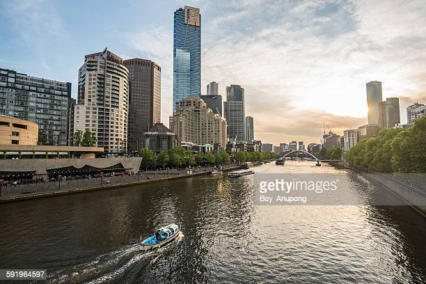 Melbourne and the Yarra river, Victoria, Australia