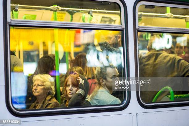 Melbourne Australia 22 march 2017 People in the tramway at night Melbourne is ranked as the worlds most liveable city for the sixth year running...