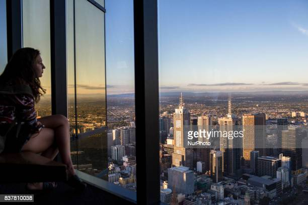 Melbourne Australia 23 march 2017 A view from of the eureka skydeck the highest skyscraper of the city located on the south bank Melbourne is ranked...