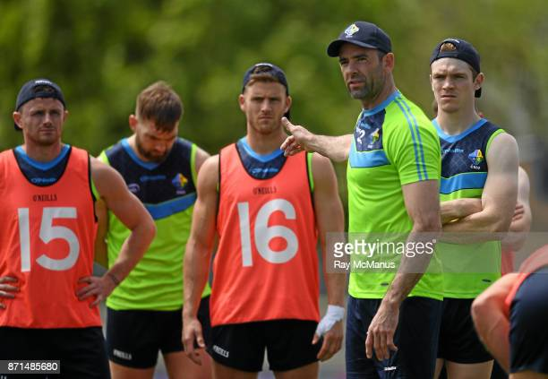 Melbourne Australia 8 November 2017 Dermot Earley talking to players during Ireland International Rules squad training at Lakeside Stadium Albert...