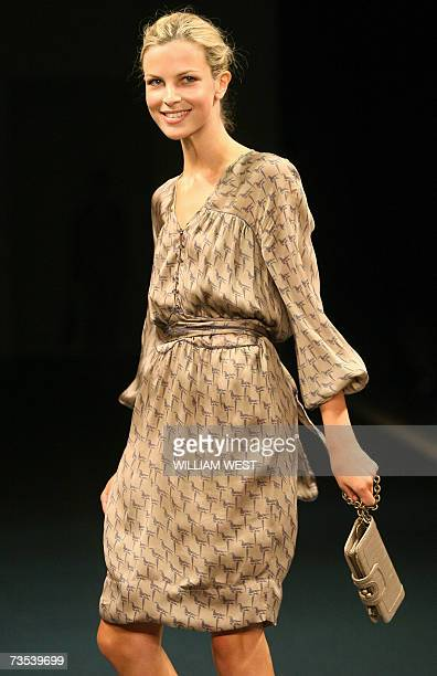 A model parades an outfit from the new Stella McCartney collection for Target retail stores during Melbourne Fashion Festival 10 March 2007...