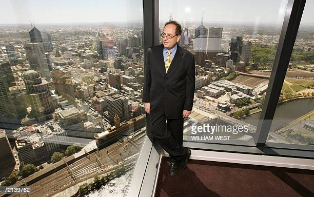 Benni Aroni stands in his apartment on the 74th floor of the Eureka Tower the world's tallest residental building which was offically opened in...