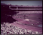 General view of the Olympic track UPI color slide