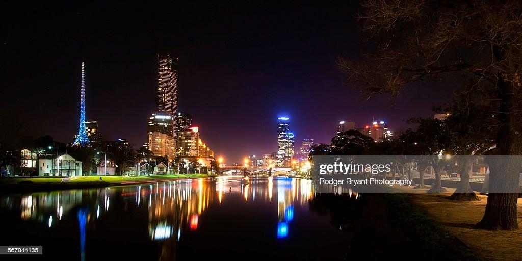 Melbourne Australia night skyline