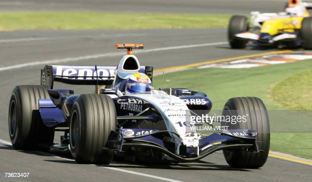 Williams driver Nico Rosberg of Germany speeds through a corner to seventh place in the Australian Grand Prix in Melbourne 18 March 2007 Kimi...