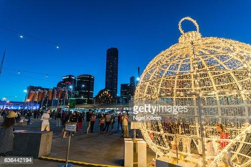 Melbourne Christmas : ストックフォト