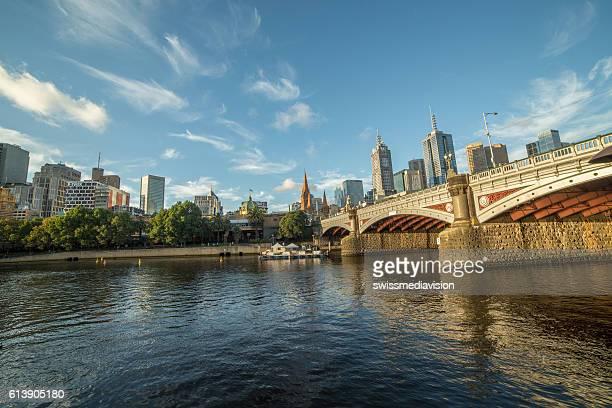 Melbourne city and Yarra river in Victoria, Australia