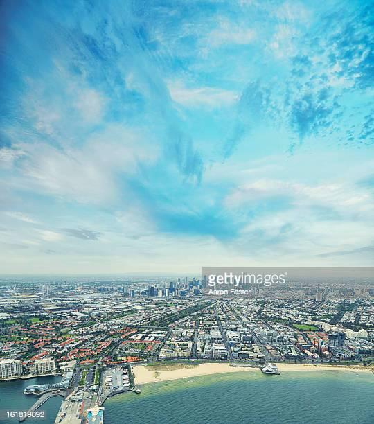 Melbourne City Ariel skyline 2