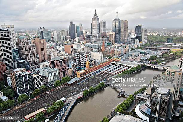 Melbourne City from High Rise Apartment