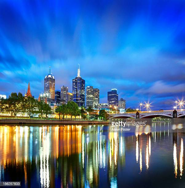 Melbourne city skyline from the south bank
