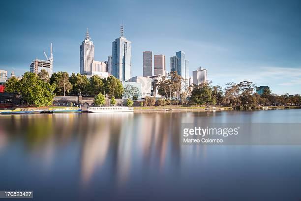 Melbourne cityscape at sunrise, Australia