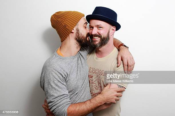 Melbourne couple Anthony Rebelo and Steven Curry pose during a portrait session on June 1 2015 in Sydney Australia Steven and Anthony first met in a...