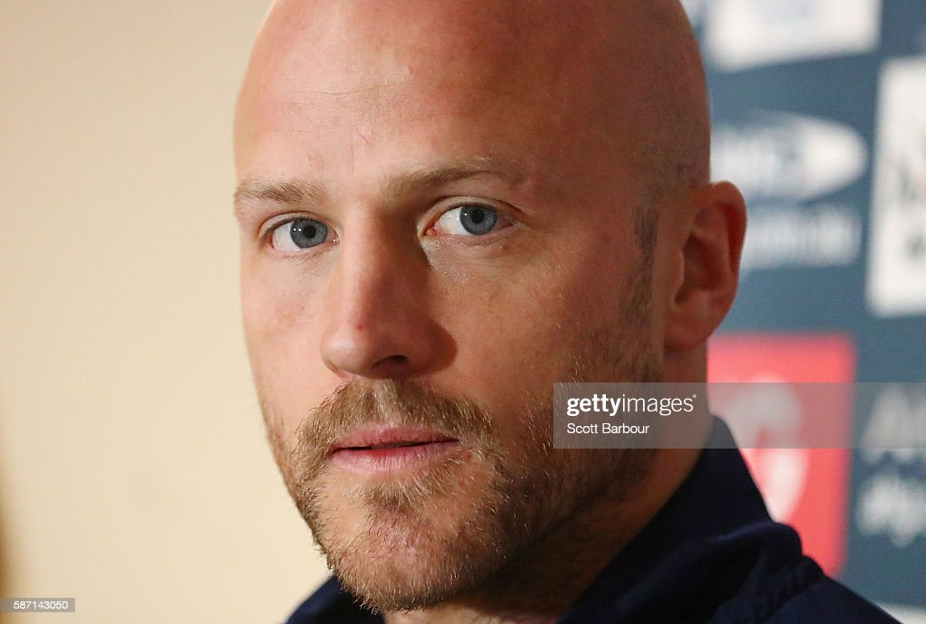Melbourne Demons AFL captain Nathan Jones speaks to the media during a media session at AAMI Park on August 8 2016 in Melbourne Australia