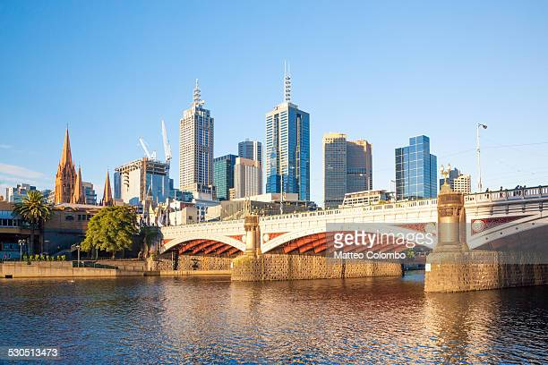 Melbourne downtown district from Yarra river