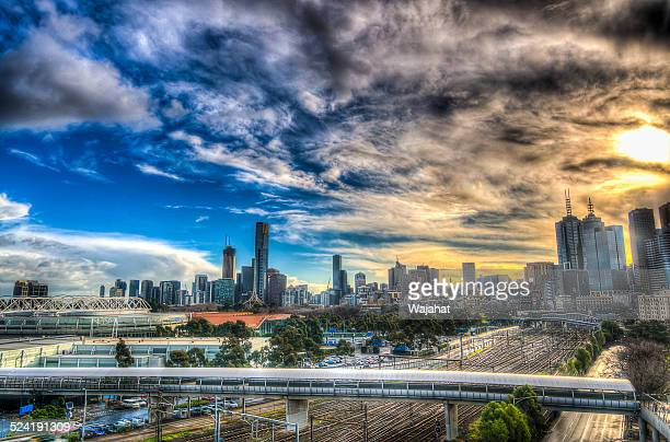 Melbourne on a Cloudy day