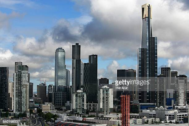 Melbourne Skyline Eureka Tower 28 February 2007 THE AGE Picture by REBECCA HALLAS