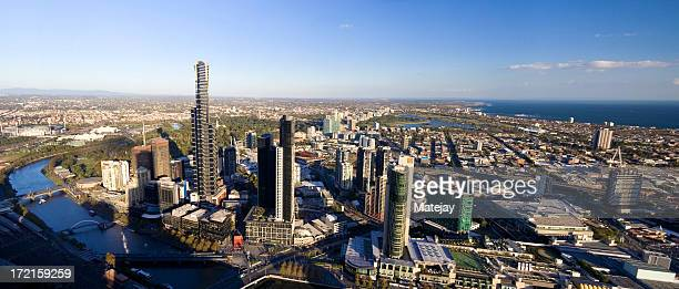 Vue panoramique de Melbourne
