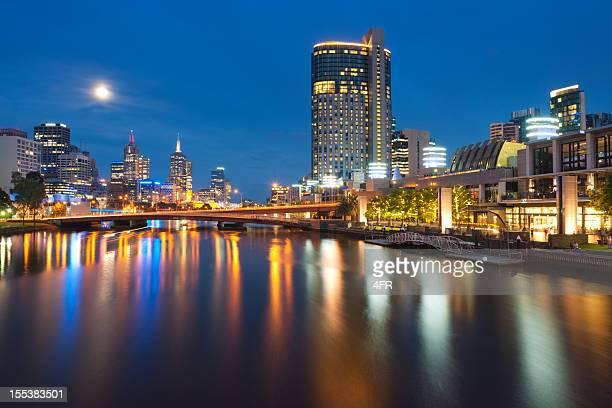 Melbourne Skyline with Full Moon (XXXL)