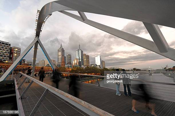 Melbourne Sougthgate Footbridge at Sunset