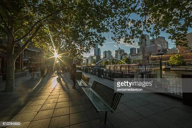 Melbourne Southbank at dusk