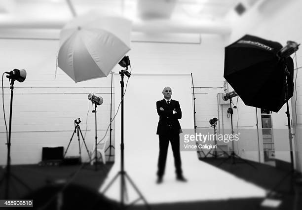Melbourne Victory coach Kevin Muscat poses during the Melbourne Victory 2014/15 ALeague headshots session at AAMI Park on September 22 2014 in...