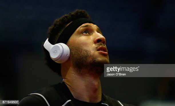 Melbourne's Josh Boone looks on during the round six NBL match between the Cairns Taipans and Melbourne United at Cairns Convention Centre on...