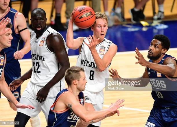 Melbourne's Kyle Adnam during the round two NBL match between the Adelaide 36ers and Melbourne United at Titanium Security Arena on October 14 2017...