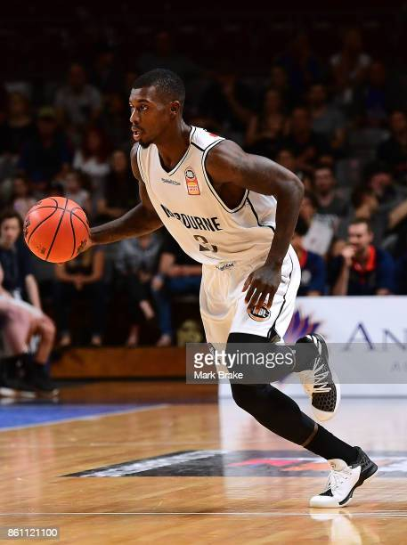 Melb's Casey Prather during the round two NBL match between the Adelaide 36ers and Melbourne United at Titanium Security Arena on October 14 2017 in...