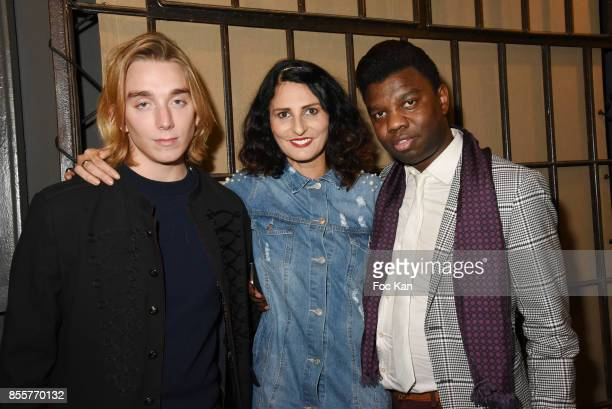 Melchior Rothstein Sylvie Ortega Munos and Jean Barthelemy Bokassa attend the Henry Achkoyan Shop Opening on September 29 2017 in Paris France